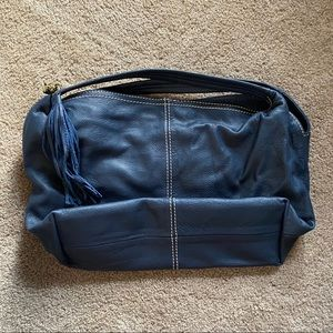 Coldwater Creek Leather Hobo Style Dark Blue Bag